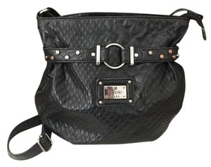 Nicole Miller Studded Leather Soft Cross Body Bag
