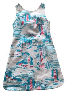Lilly Pulitzer short dress White and blue on Tradesy