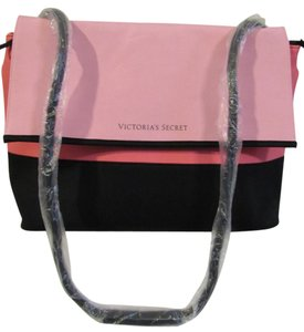 Victoria's Secret Coooler Neoprene Tote pink and black Beach Bag