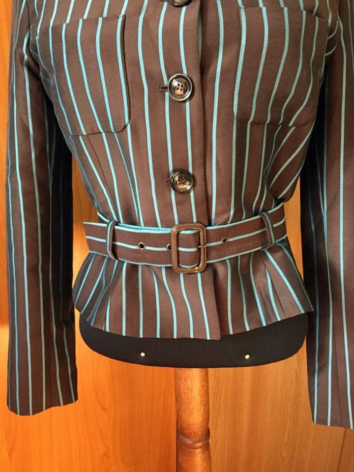 6caf47db Kenzo Pin Striped Jungle Belted Jacket Size 4 (S)