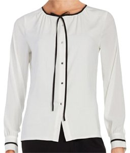 Karl Lagerfeld With Neck Tie Top Whited