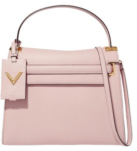 Valentino Rockstud Studded Leather Tote in pastel pink
