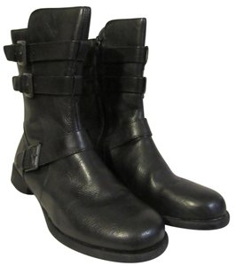 B.O.C. Straps Buckles Born Leather black Boots