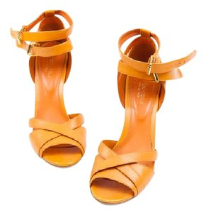 Sergio Rossi Strappy Coral / Orange Sandals