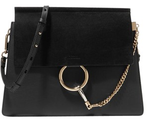 Chloé Faye Leather Suede Chloe Shoulder Bag