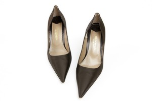 Bruno Magli Satin Brown Pumps