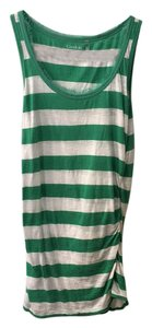 Caslon T Shirt green white stripe
