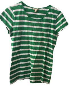 Banana Republic T Shirt green white stripe