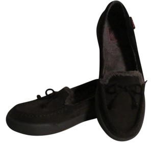 Roxy Loafer Fur Trim Bow Suede Fur brown Flats