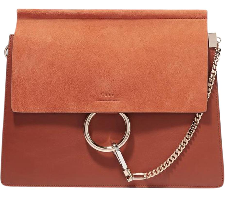 1d6246b805 Chloé Faye Medium Brown Leather and Suede Shoulder Bag - Tradesy