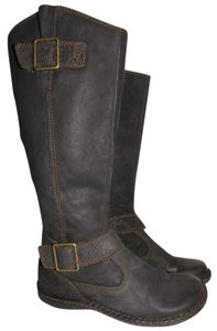 B.O.C. Leather Tall Buckle Zipper black leather Boots
