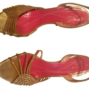 Kate Spade Gold metallic- size 39.5 Sandals