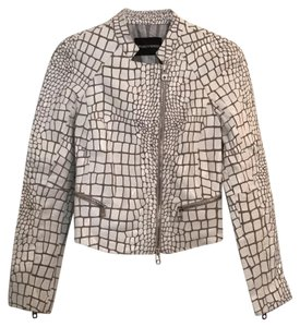 Emporio Armani white Leather Jacket
