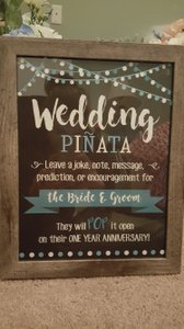 Framed Typography - Wedding Pinata Sign