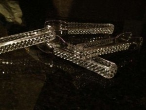 Clear (4) Bling Candy Buffet Tongs Reception Decoration