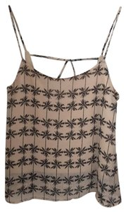 Sans Souci Print Summer Top Tan & Black