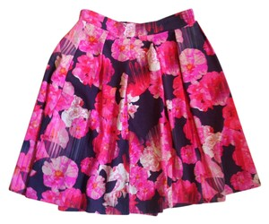 Cynthia Rowley Size Xs Floral Aline Mini Skirt Multicolor