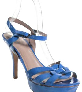 Vince Camuto Patent Leather Periwinkle Platforms