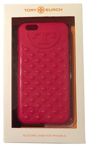 Tory Burch Pink Marion Quilted iPhone Case (6/6s)