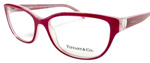 Tiffany & Co. Tiffany Co. Eyeglasses Cherry Red Mother of Pearl Heart Accent