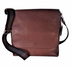 Coach Sullivan Messenger Crossbody Tablet Mahogany Brown Messenger Bag