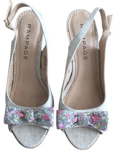Rampage Tan and Floral Pumps