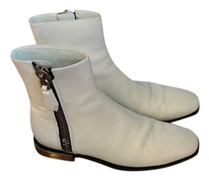 Calvin Klein Collection Ck Leather Chelsea Boot White Boots