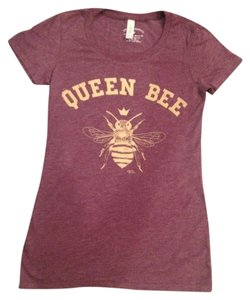 Episode Graphics Vintage Style Graphic Tee Queen Bee Small T Shirt Vintage Maroon