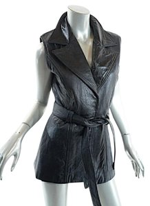 L.A. Roxx 100% Leather Leather Belted Vest
