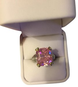 Judith Ripka pink heart Fontaine ring