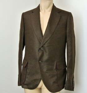 Gucci Brown Dandy Runway Cashmere Jacket Blazer 52r/Us 42r #298590 Groomsman Gift