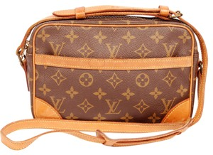 Louis Vuitton Canvas Trocadero Satchels Cross Body Bag