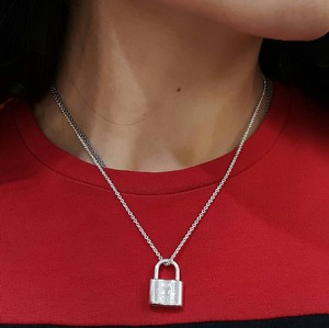 Tiffany & Co. CLASSIC!! Tiffany & Co. 1837 Lock Pendant Necklace Sterling Silver 16