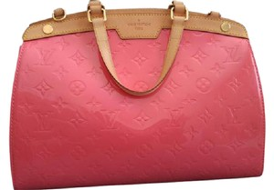 Louis Vuitton Brea Leather Monogram Satchel in Coral (Discontinued Color)