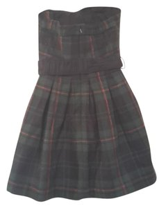 Abercrombie & Fitch short dress Green plaid Strapless Mini Plaid Holiday on Tradesy