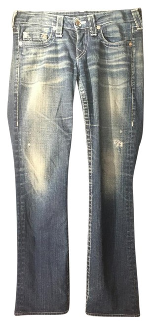 True Religion Straight Leg Jeans-Distressed Image 0