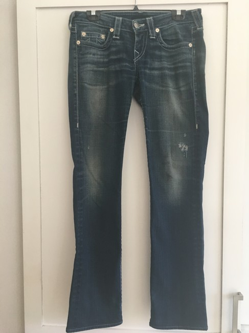 True Religion Straight Leg Jeans-Distressed Image 10