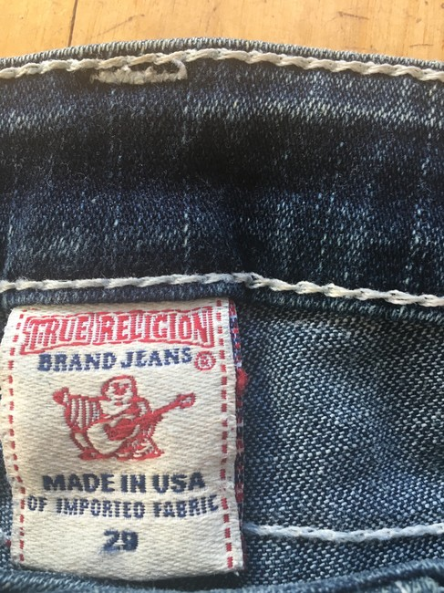 True Religion Straight Leg Jeans-Distressed Image 4