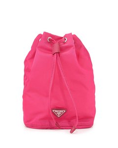 Prada Prada Tessuto Nylon Cosmetic Make-Up Drawstring Travel Bag
