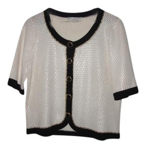 St. John Vintage Top white/black