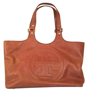 Tory Burch Leather Tote in Camel