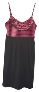 Planet Gold short dress pink and black Striped on Tradesy