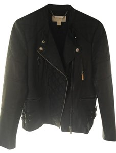Michael Kors Leather Motorcycle Moto Leather Jacket