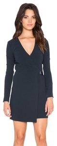Halston Longsleeve Wrap V-neck Dress