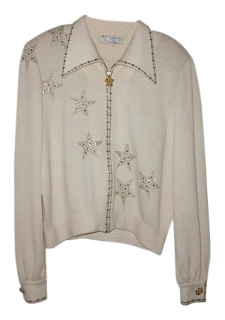 Item - Collection By Marie Gray White with Gold and Silver Top