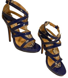 Jimmy Choo Strappy Heels Blue Sandals