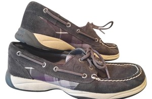 Sperry Boatshoe grey and purple Flats