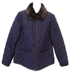 Charter Club Quilted Navy Jacket