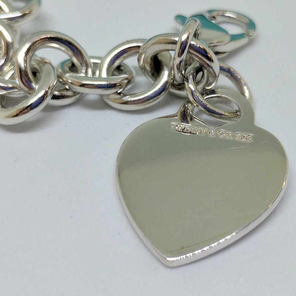 Tiffany Amp Co Classic Heart Charm Bracelet Sterling