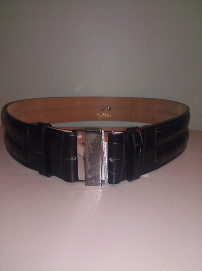 Max Mara New! Max Mara Calf Leather Buckle Front Adjustable in Size Belt
